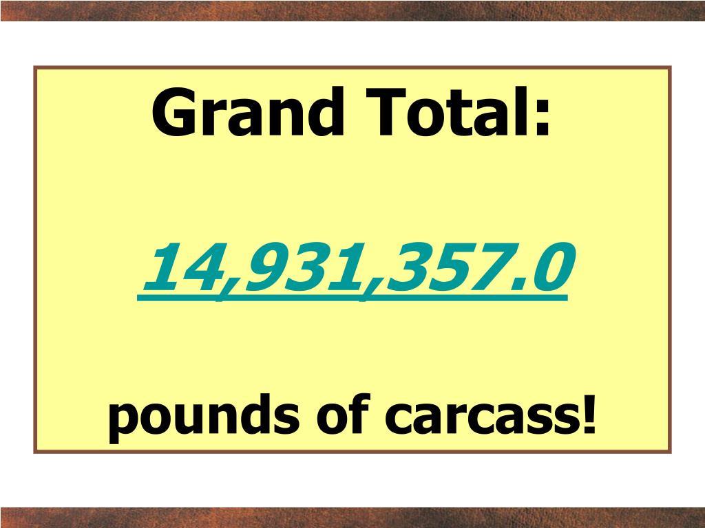 Grand Total: