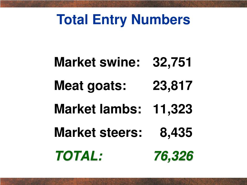 Total Entry Numbers