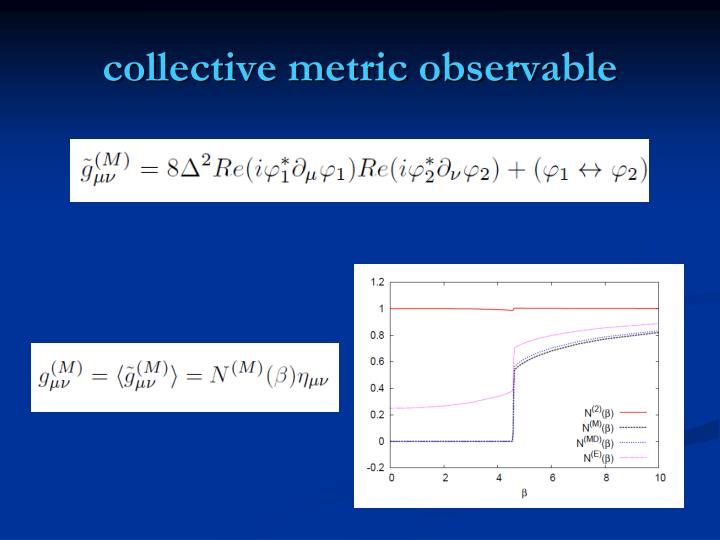 collective metric observable
