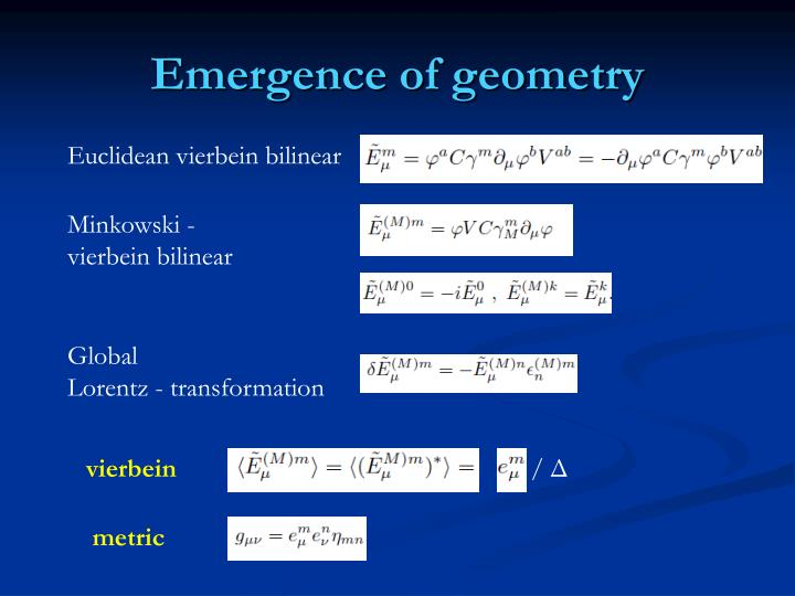Emergence of geometry
