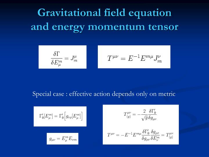 Gravitational field equation