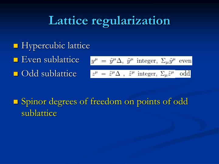 Lattice regularization