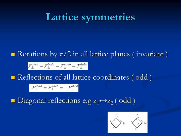 Lattice symmetries