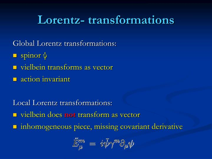 Lorentz- transformations