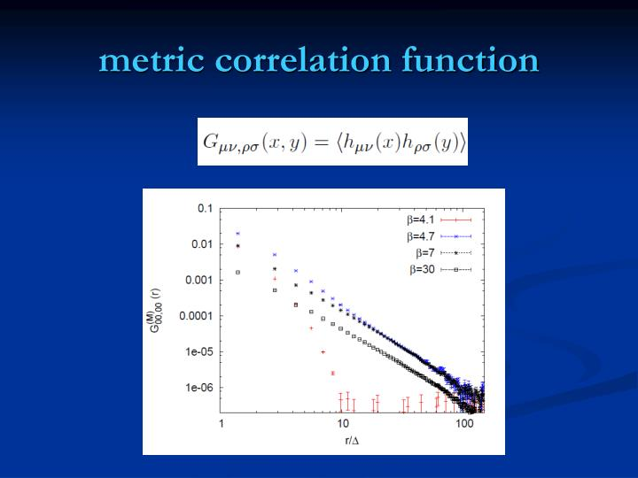 metric correlation function