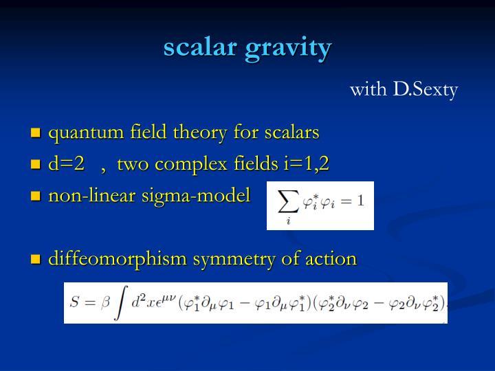 scalar gravity