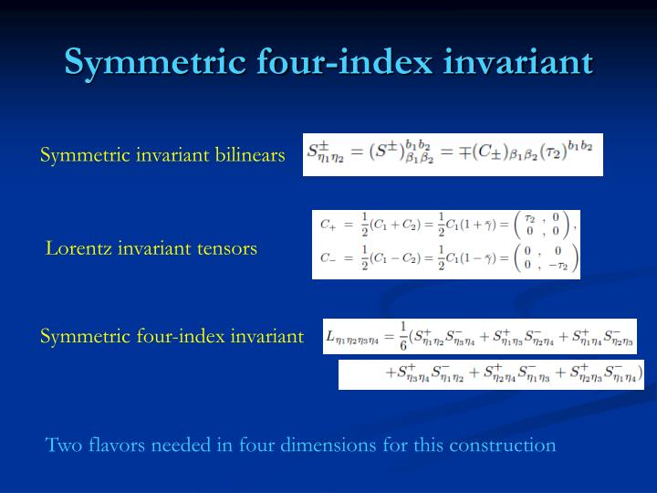 Symmetric four-index invariant