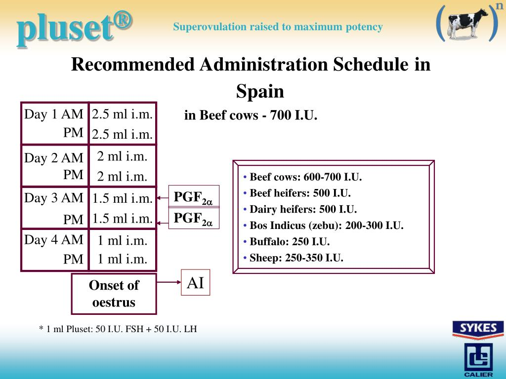 Recommended Administration Schedule