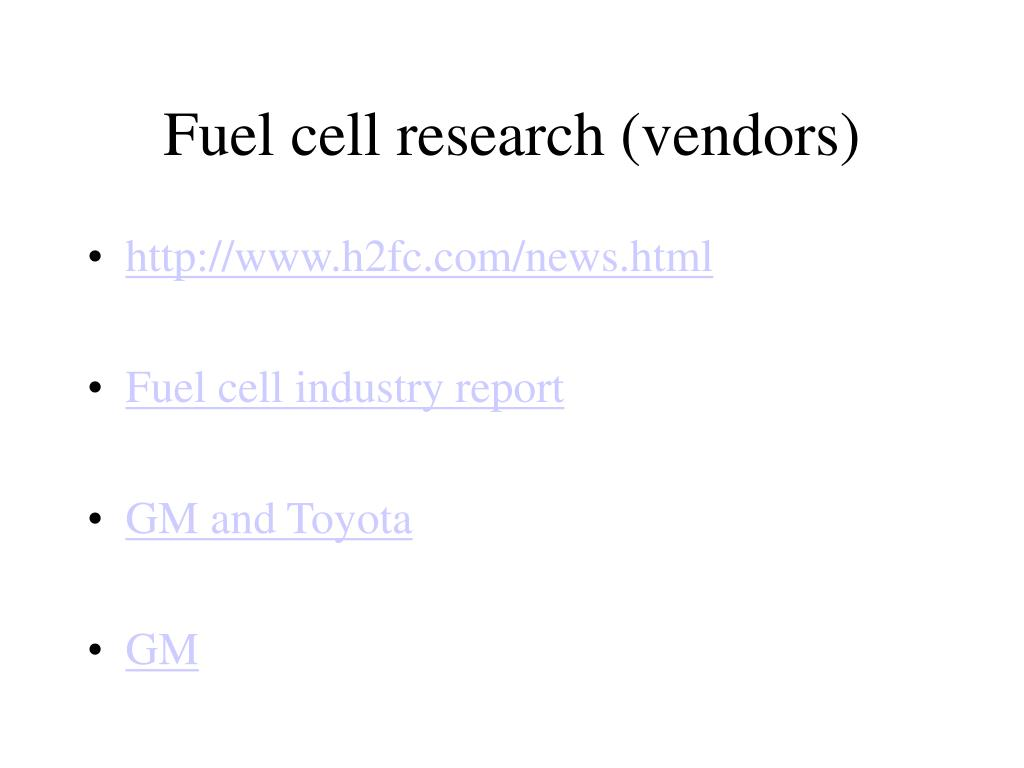 Fuel cell research (vendors)