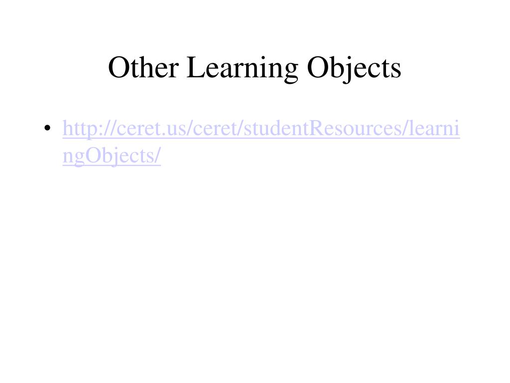Other Learning Objects