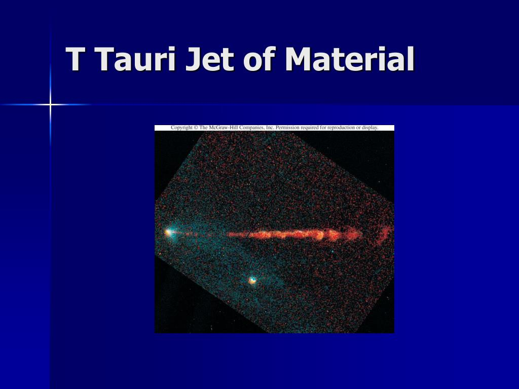 T Tauri Jet of Material