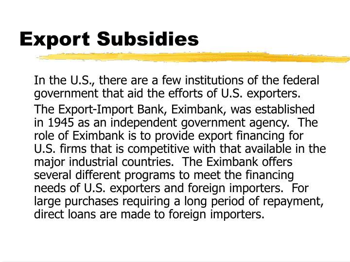 Export Subsidies