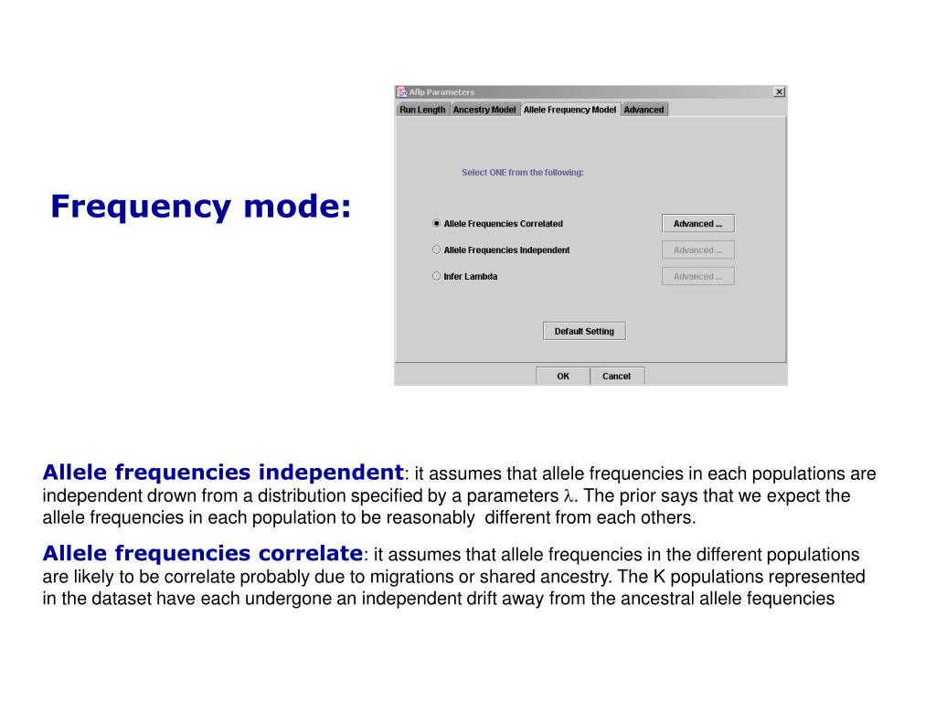 Frequency mode: