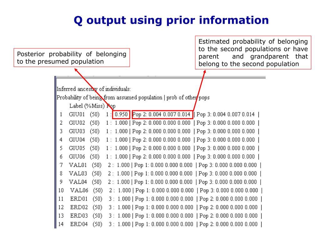 Q output using prior information