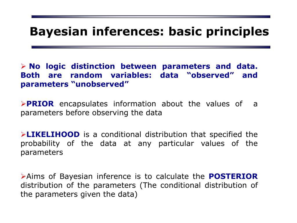 Bayesian inferences: basic principles