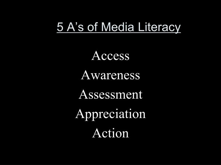 5 A's of Media Literacy