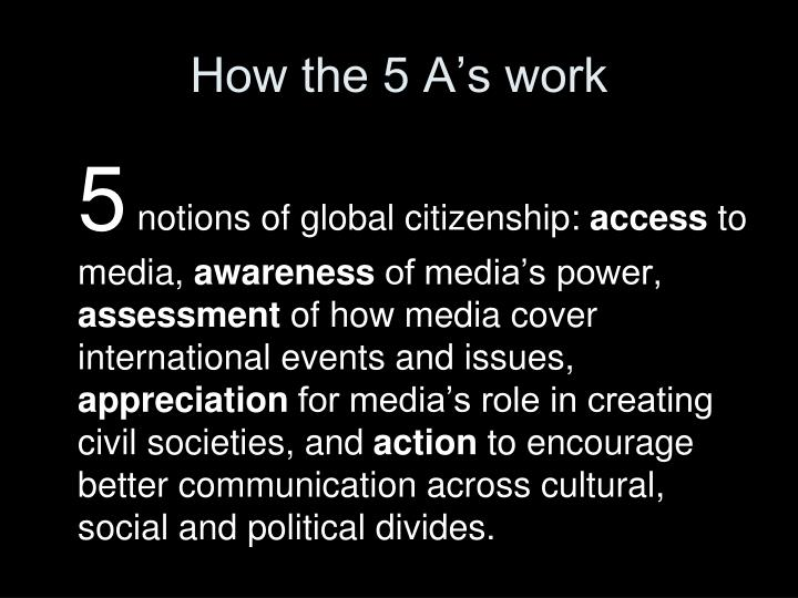 How the 5 A's work