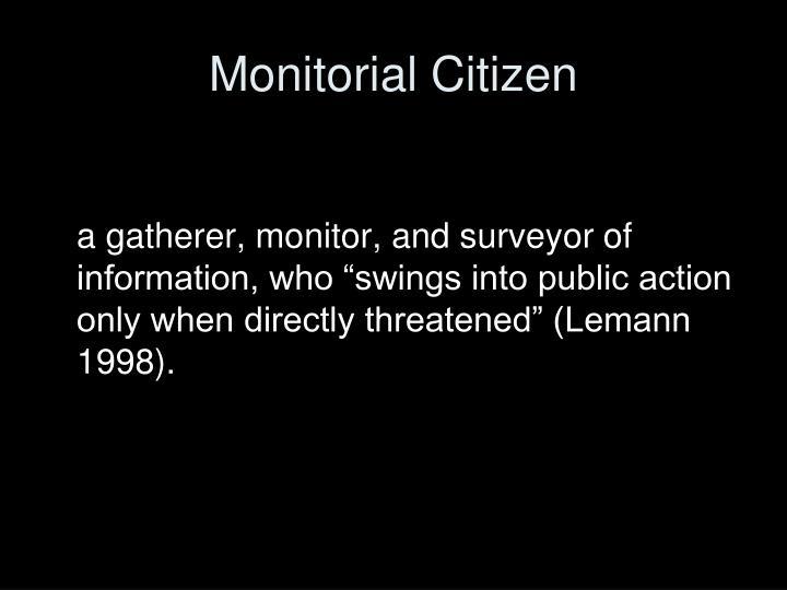 Monitorial Citizen