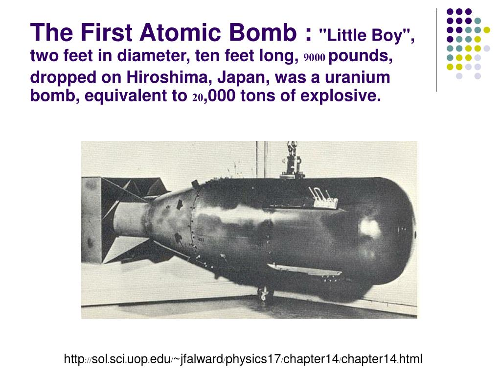 The First Atomic Bomb