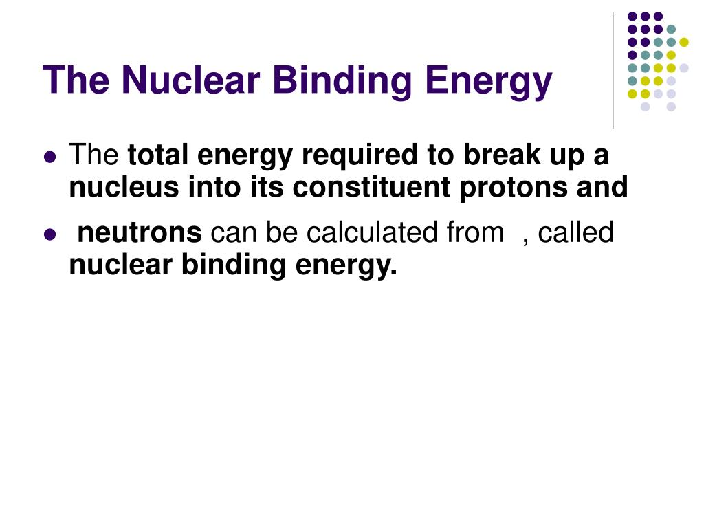The Nuclear Binding Energy