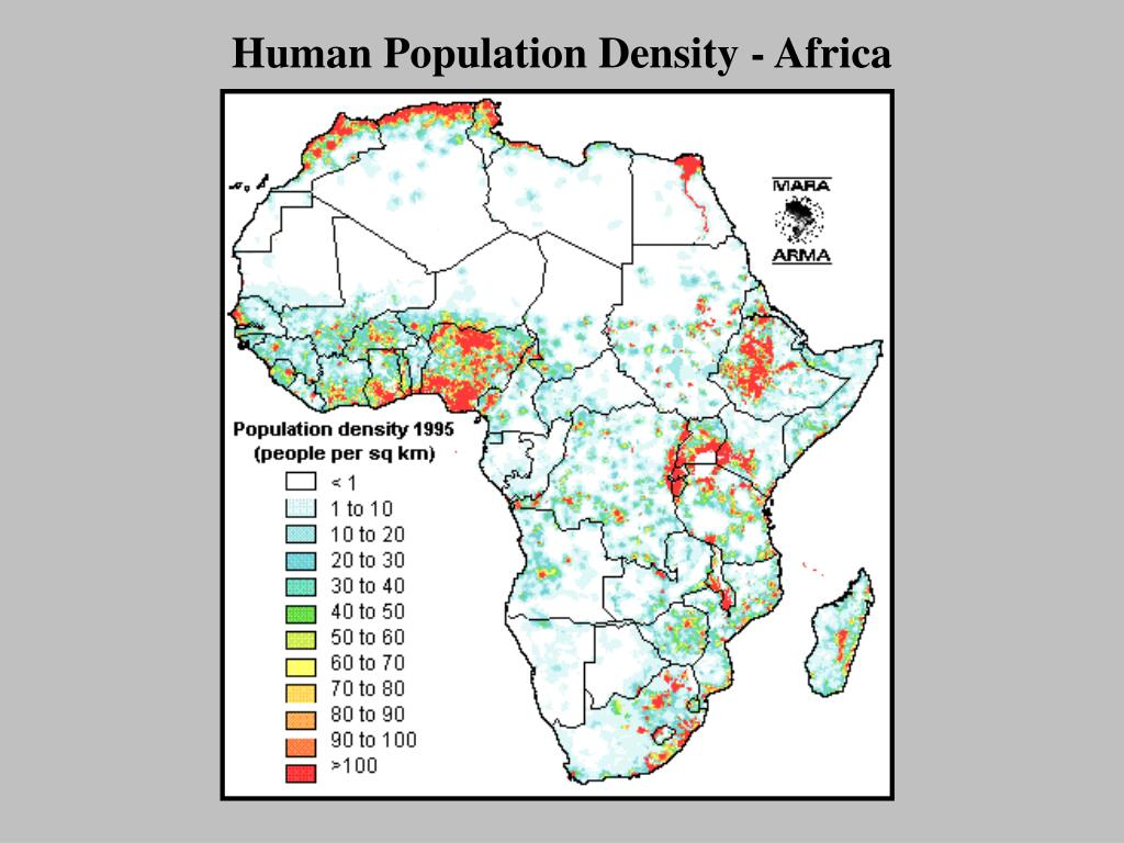 Human Population Density - Africa