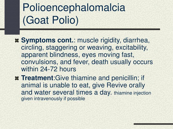 Polioencephalomalcia
