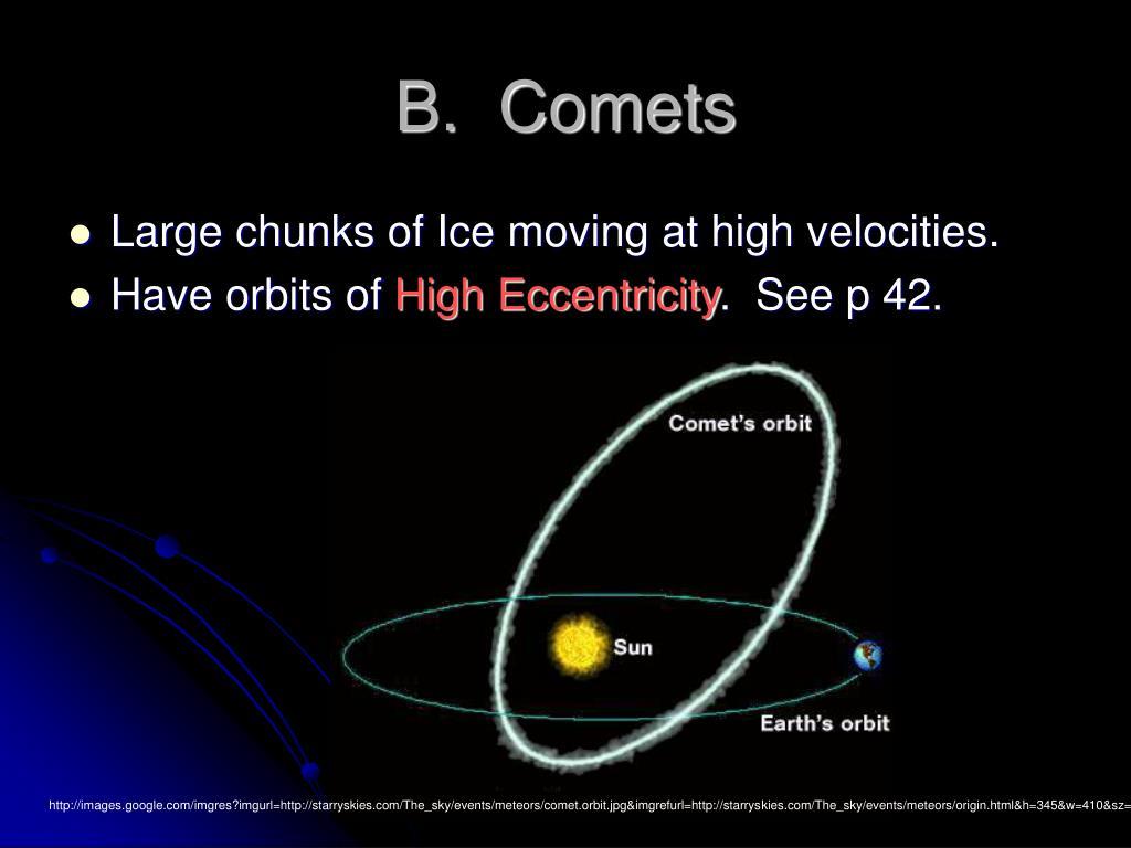 B.  Comets
