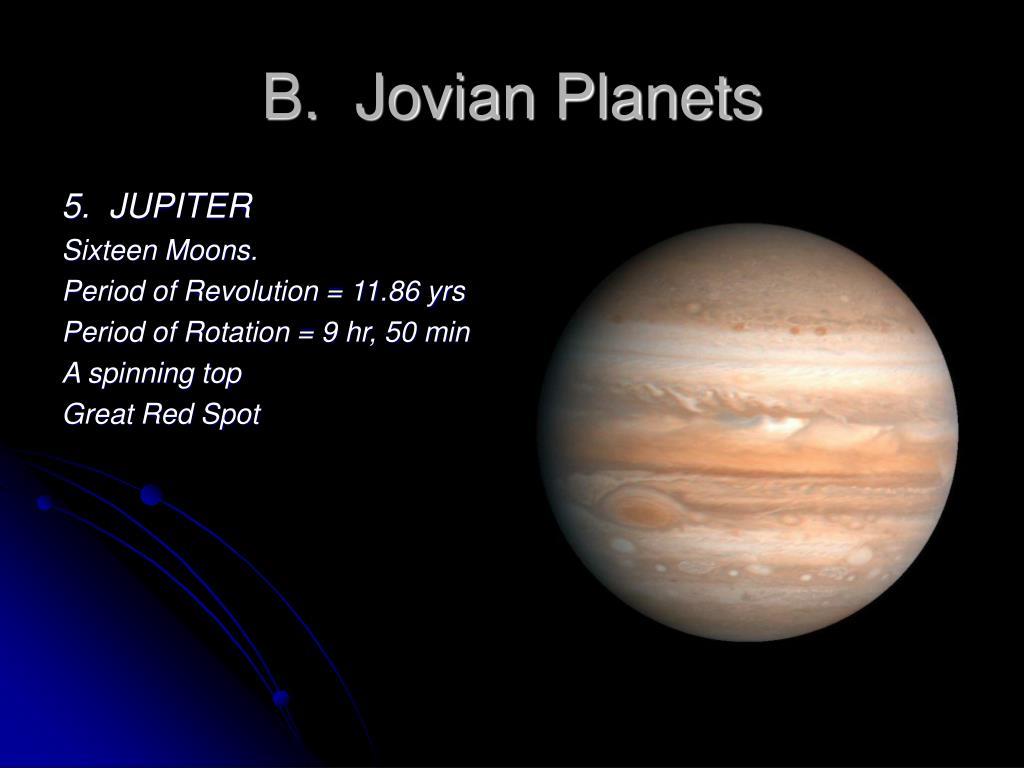 B.  Jovian Planets