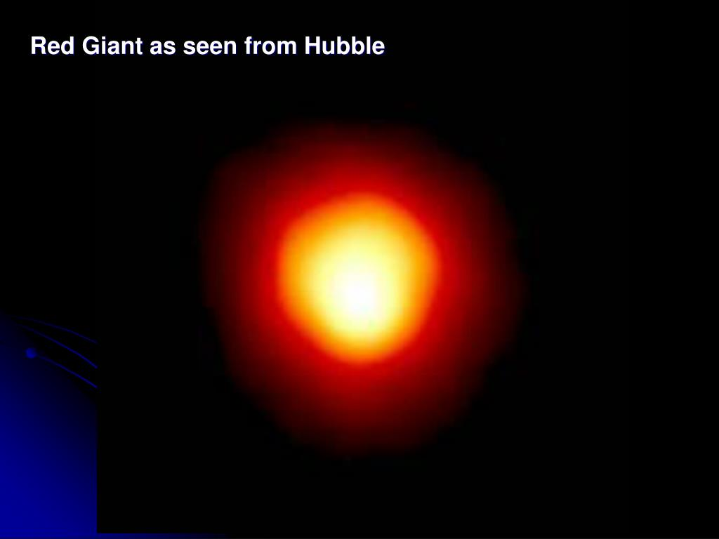 Red Giant as seen from Hubble