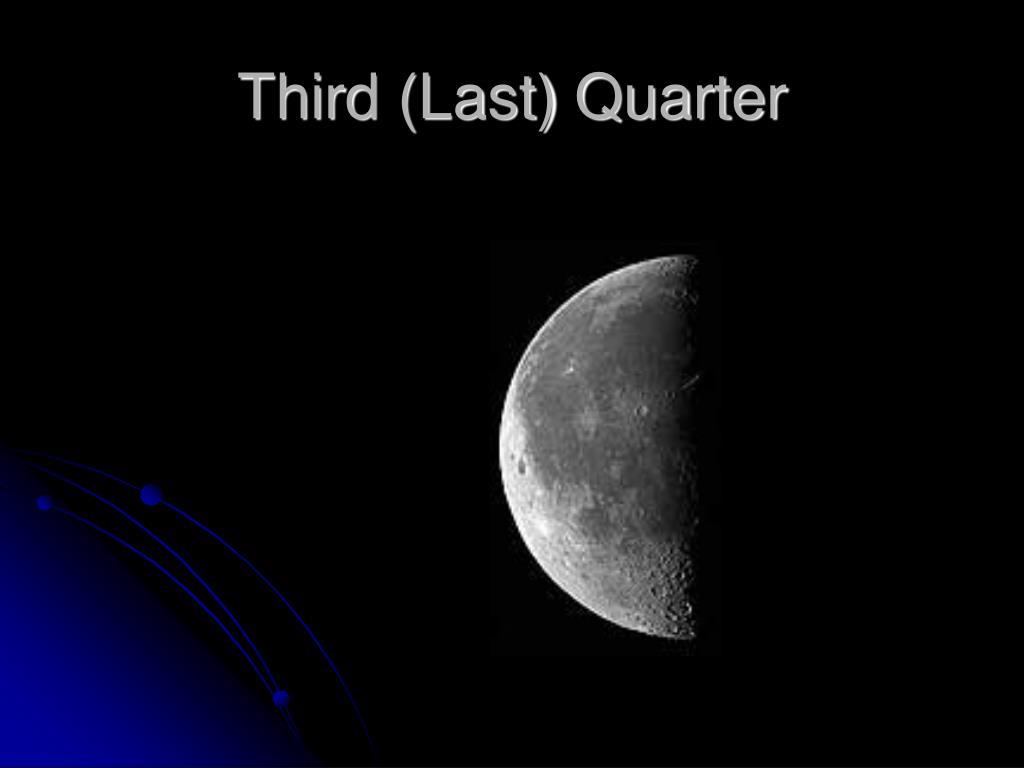 Third (Last) Quarter