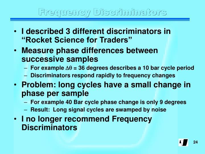 Frequency Discriminators