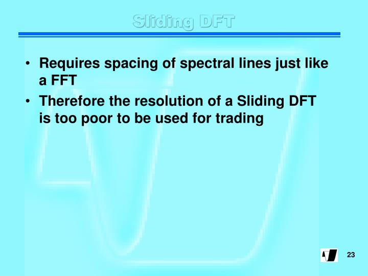 Sliding DFT