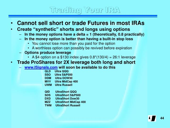 Trading Your IRA