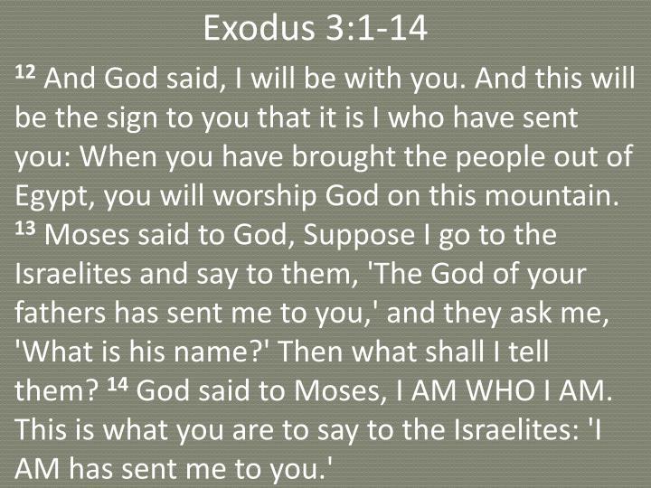 Exodus 3:1-14