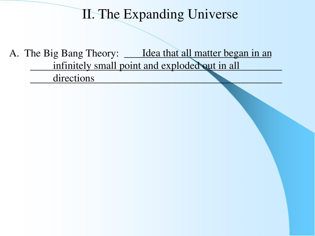 II. The Expanding Universe
