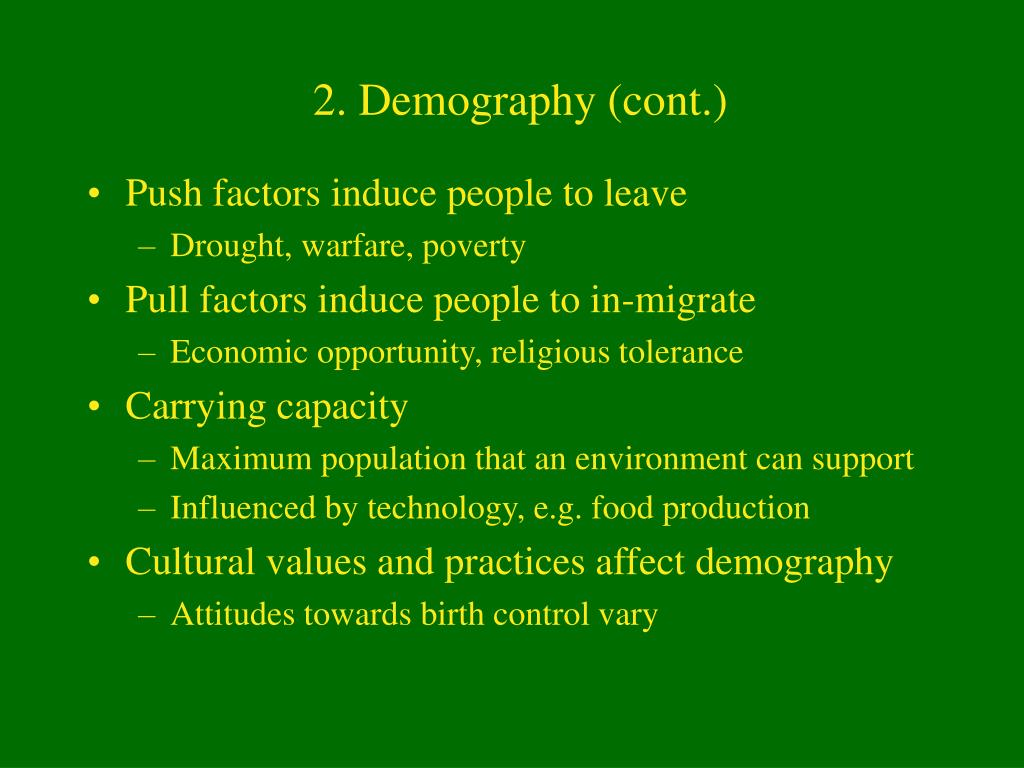 2. Demography (cont.)