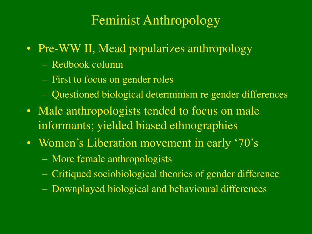 Feminist Anthropology