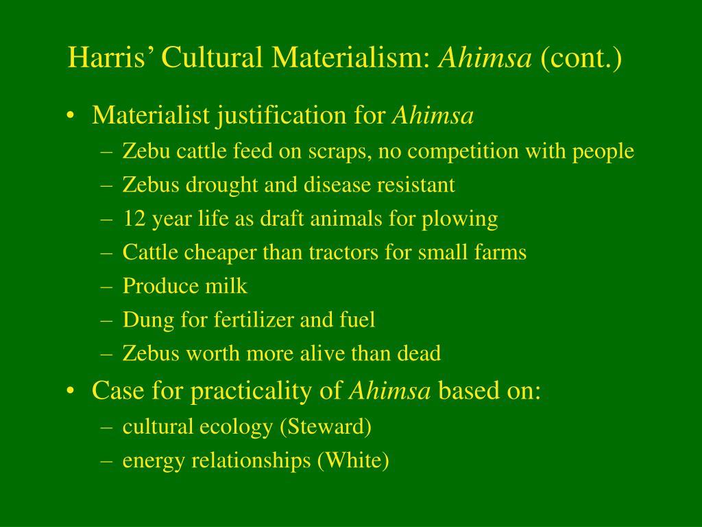 Harris' Cultural Materialism: