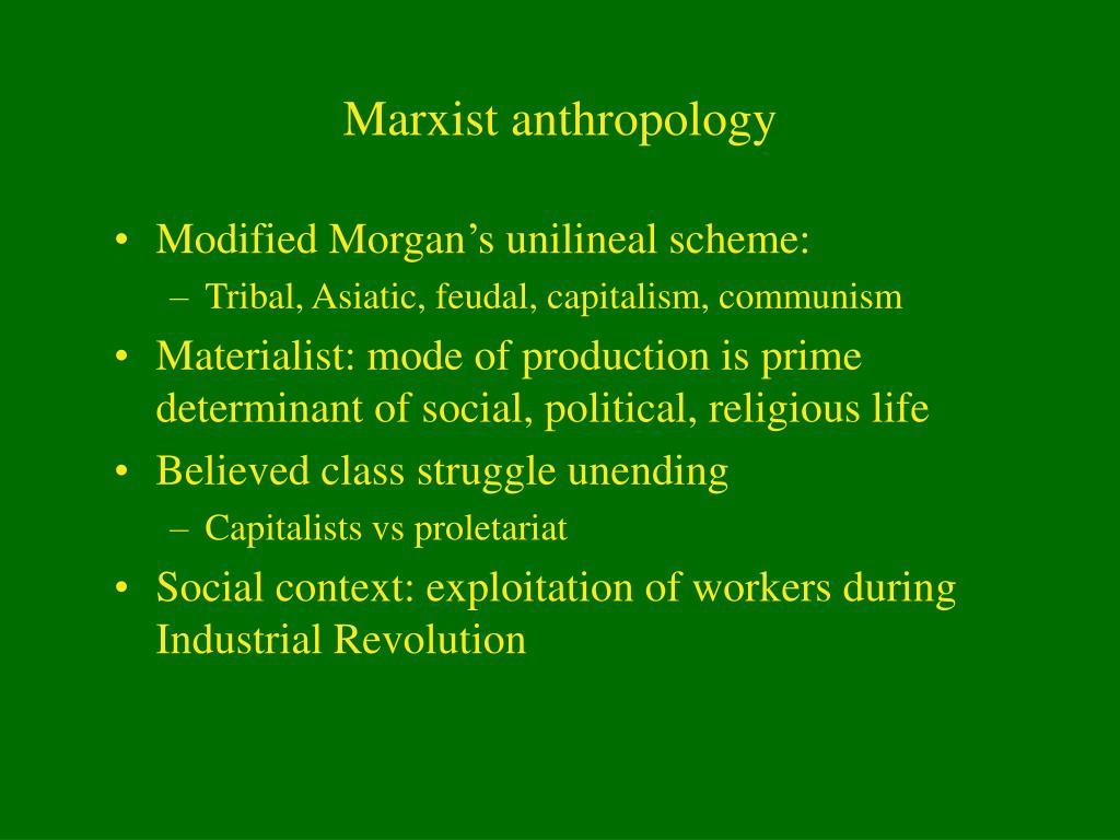 Marxist anthropology