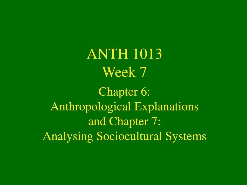 ANTH 1013