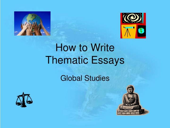 Essay thematic