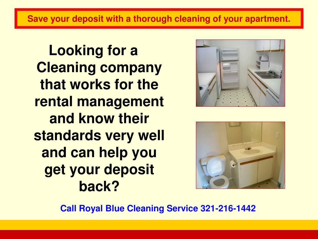 Looking for a Cleaning company that works for the rental management and know their standards very well and can help you get your deposit back?