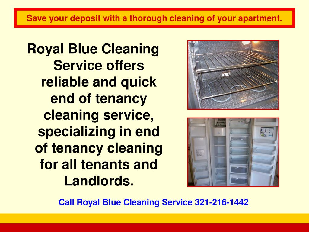 Royal Blue Cleaning Service offers reliable and quick end of tenancy cleaning service, specializing in end of tenancy cleaning for all tenants and Landlords.