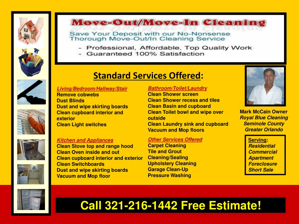 Standard Services Offered