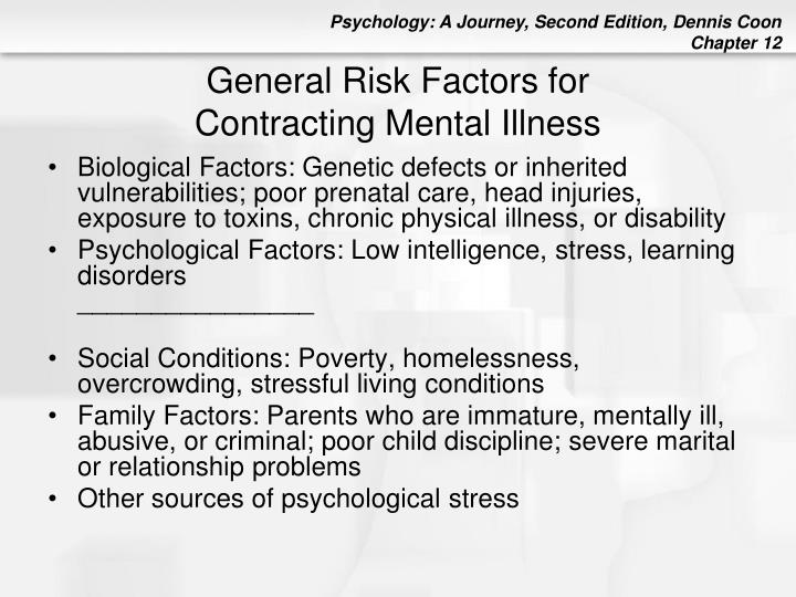 General Risk Factors for