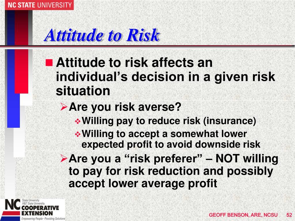 Attitude to Risk