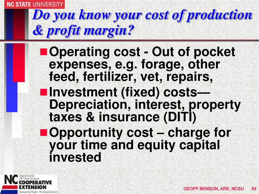 Do you know your cost of production & profit margin?