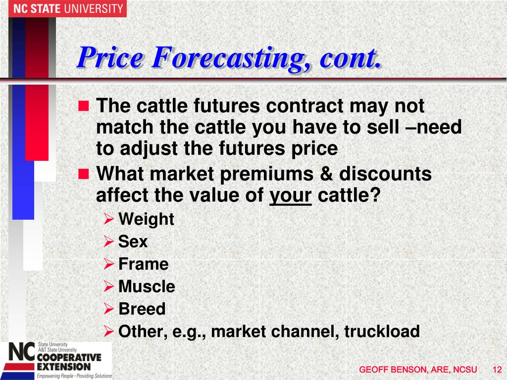 Price Forecasting, cont.