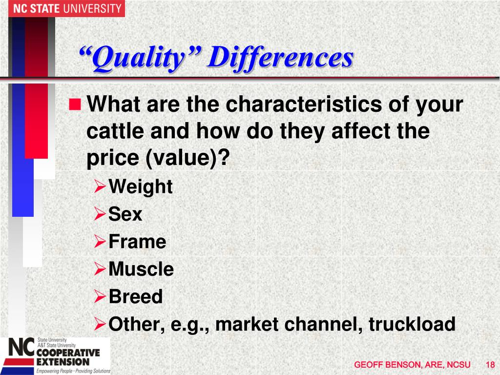"""Quality"" Differences"