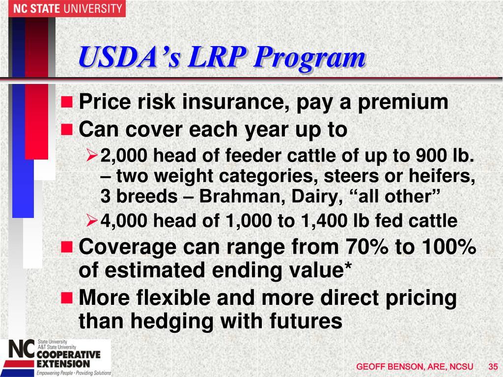 USDA's